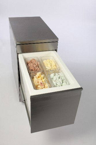 Adande Compact Solid Worktop Counter Unit with Castors VCC1/GCW