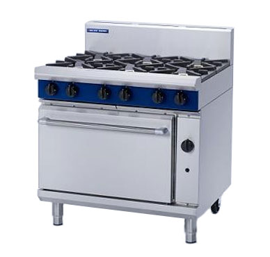 Blue Seal G506D Six Burner Gas Cooker Range Static Oven 2/1 GN
